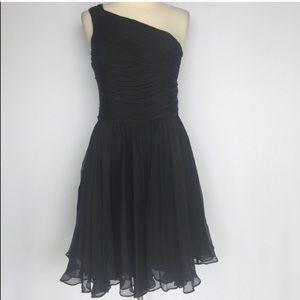 Halston Heritage silk one shoulder dress - sz 4